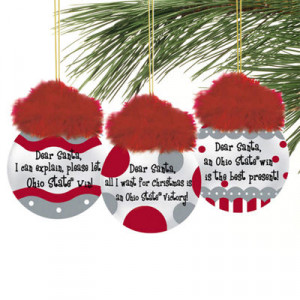 Ohio State Buckeyes 3-Pack Team Sayings Ornaments
