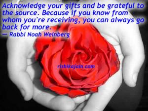be grateful ,Rabbi Noah Weinberg,Inspire Life – Inspirational Quotes ...