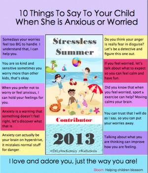 10 Things to Say to an Anxious Child