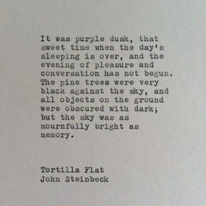 John Steinbeck Tortilla Flat Typewriter Quote / Quote Typed on ...