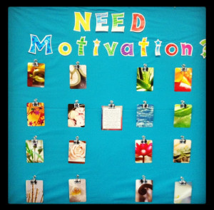 Interactive Motivation Bulletin Board!
