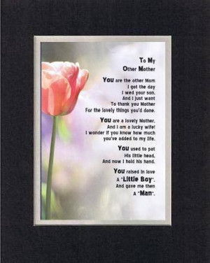 Touching and Heartfelt Poem for Mothers - To My Other Mom (From ...