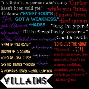 Disney VILLAIN quotes by TheAwusomePitchSlapp