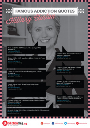 Famous Addiction Quotes Hillary Clinton [Reference Sources]
