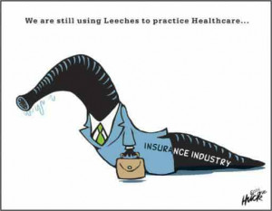 We are still using leeches to practice health care