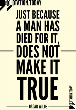 Quotations | Oscar Wilde – Quotes on Truth