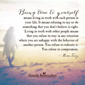 Being true to yourself...