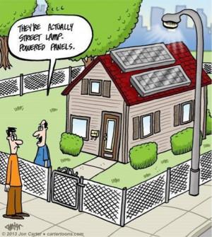 Solar jokes Saturday: rooftop panels