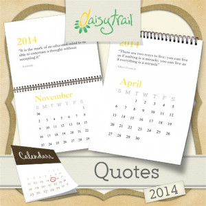 The 2014 Calendar: Quotes digikit contains the following: