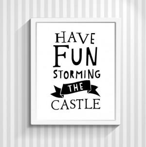Princess Bride Movie Quote, Quote Print, Typography Print, Film Quote ...