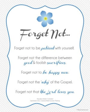 Forget not to be happy now. Forget not the 'why' of the Gospel. Forget ...