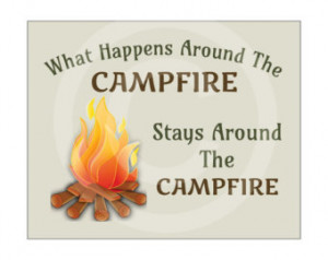 Art, What Happens Around The Campfire, Camping Quote, Printable Quote ...
