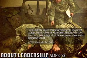 Military Leadership Quotes Center for army leadership
