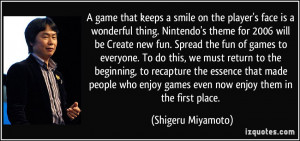 that keeps a smile on the player's face is a wonderful thing. Nintendo ...