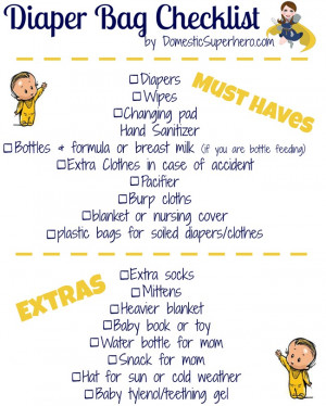 ... Free Printable Checklist! Perfect to go along with baby shower gift