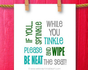 Bathroom Humor Framed Quotes Print Bathroom Art Printable Sign Kids ...
