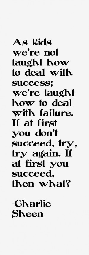 As kids we 39 re not taught how to deal with success we 39 re taught ...