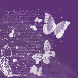 Purple butterflies Image