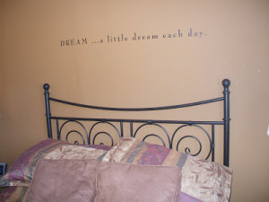 bedroom wall quotes