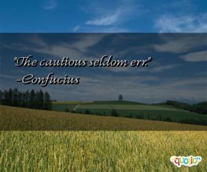 Cautious Quotes