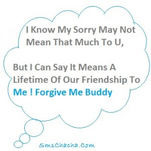 sms best friend to say sorry