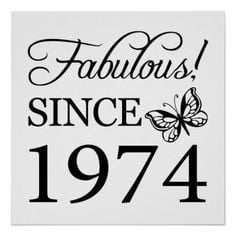 ... , black & white Poster Print with a butterly. #40 #40th #40thbirthday