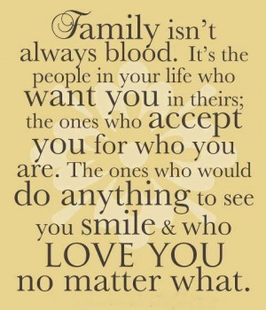 The true meaning of Family.