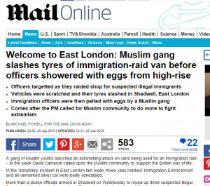 Very disappointed to see the following headline in the MailOnline on ...