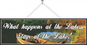 What Happens at the Lake Stays at the Lake Sign with Row Boat & Autumn ...