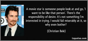 star is someone people look at and go, 'I want to be like that person ...