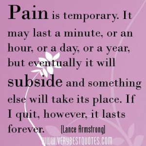 Pain Temporary Quotes Lance