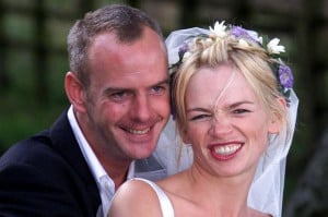Zoe Ball and Norman Cook on their wedding day