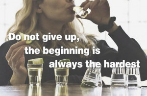 you overlay inspiring fitness quotes over pictures of heavy drinking ...