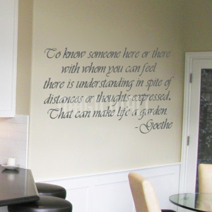 Home » Make Life a Garden - Goethe - Quote - Wall Decals Stickers