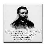 Ulysses S. Grant Quote Jr. Ringer T-Shirt