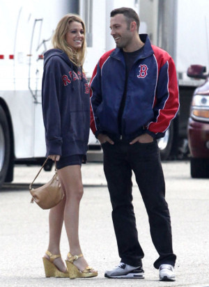"""Blake Lively and Ben Affleck on 'The Town"""" set"""