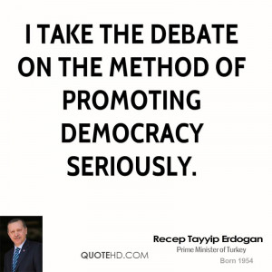 take the debate on the method of promoting democracy seriously.
