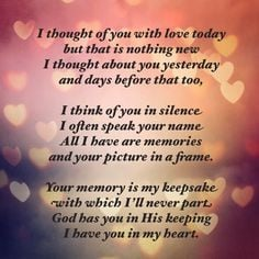 thought of you with love today More