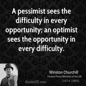 Winston Churchill Opportunity Quote