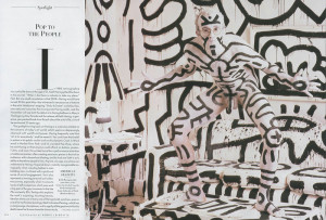 Keith Haring by Annie Leibovitz by Bill Westmoreland