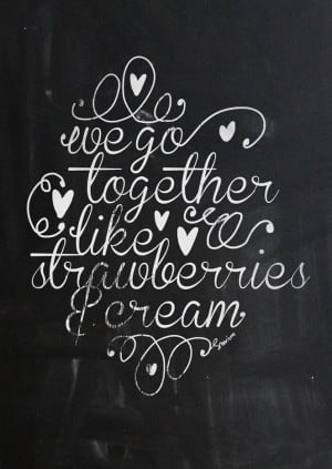 We go together like strawberries and cream. By Smäm.