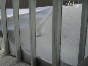 Another view from the back porch. The snow drift here is so high you ...
