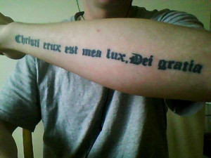 latin quote tattoo