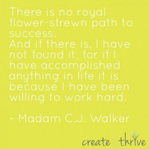 ... Madam C.J. Walker #business #inspiration #motivation #work #hard #