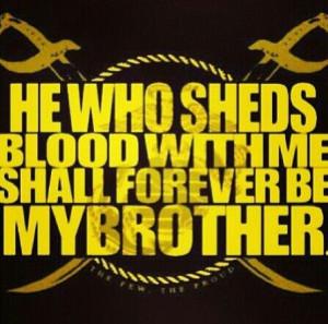 Brothers till death… Semper Fidelis