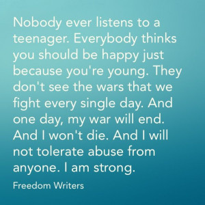 Quote from the movie Freedom Writers