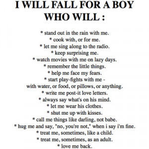 Will Fall for a Boy – Being in Love Quote