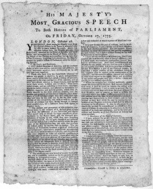 George III's Address to Parliament (Quote)