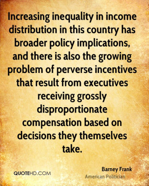 Increasing inequality in income distribution in this country has ...