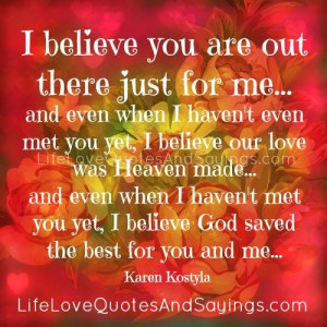 God Saved The Best For You And Me..
